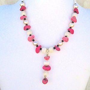 Festivity Hot Pink Pendant Necklace